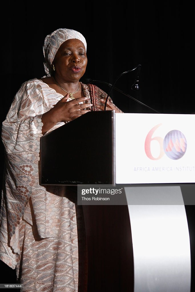 Dr. Nkosazana Dlamini Zuma speaks during the Africa-America Institute 60th Anniversary Awards Gala at New York Hilton on September 25, 2013 in New York City.