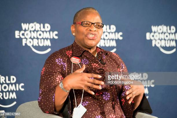 Dr. Obiageli Ezekwesili, Nigerian politician, activist and chartered accountant, speaks at a session on Gender-Based Violence at the final day of the...