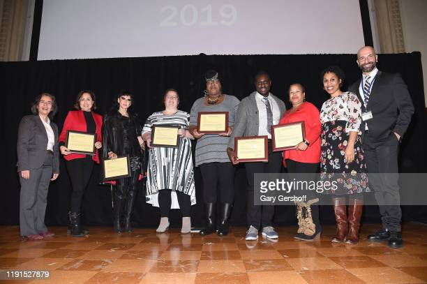 Dr Oxiris Barbot with award recipients Nathaly RubioTorio Susanne Bartsch Rebecca green Octavia Y Lewis guest accepting for Johanne Morne Deborah...