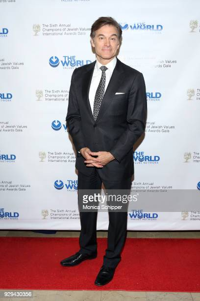 Dr Oz attends the 2018 World Values Network Champions of Jewish Values Awards Gala at The Plaza Hotel on March 8 2018 in New York City