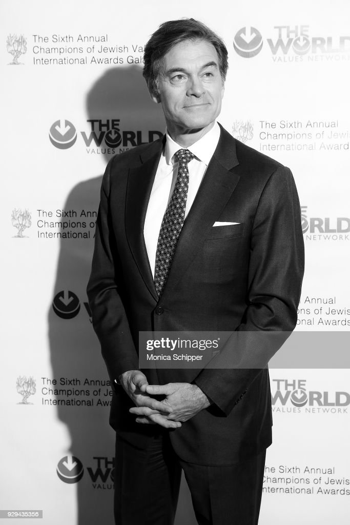 Dr. Oz attends the 2018 World Values Network Champions of Jewish Values Awards Gala at The Plaza Hotel on March 8, 2018 in New York City.