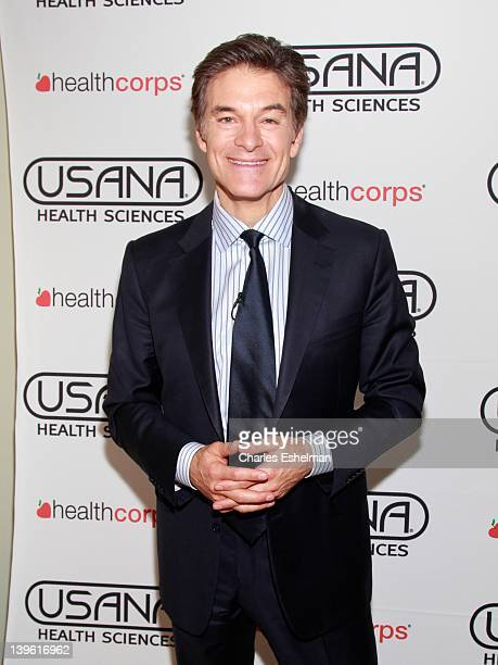 Dr Oz attends the High School CookOff For Healthy Eating at Columbia University's Hammer Science Library on February 23 2012 in New York City