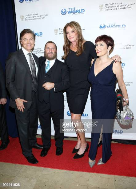 Dr Oz Rabbi Shmuley Boteach honoree Caitlyn Jenner and guest attend the 2018 World Values Network Champions of Jewish Values Awards Gala at The Plaza...