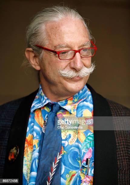 Dr Patch Adams founder of the Gesundheit Institute holds a health care reform discussion on Capitol Hill July 28 2009 in Washington DC Adams supports...