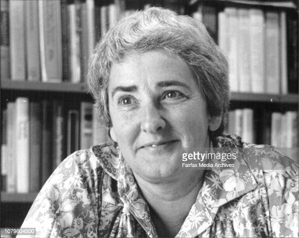 Dr Patricia Lahy in her of ice in the Mungo McCallum Bldg Sydney University October 29 1979
