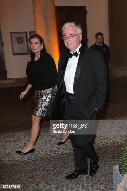 Dr Paul Achleitner and his wife Prof Dr AnnKristin Achleitner during the 80th birthday party of Roland Berger at Cuvillies Theatre on November 25...