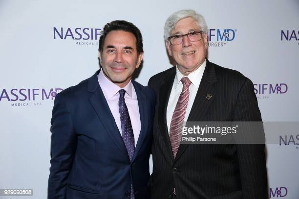Dr Paul Nassif and Julian A Gold arrive for Dr Paul Nassif's unveiling of his new medical spa with grand opening and ribboncutting ceremony at Nassif...