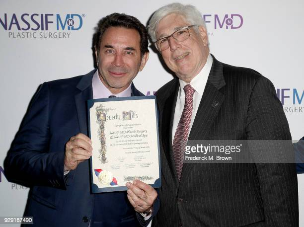 Dr Paul Nassif and Julian A Gold unveils Dr Paul Nassif new medical spa with grand opening and ribbon cutting ceremony on March 7 2018 in Beverly...