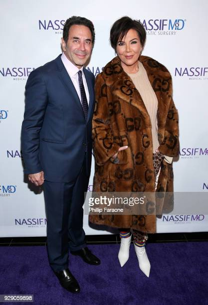Dr Paul Nassif and Kris Jenner arrive for Dr Paul Nassif's unveiling of his new medical spa with grand opening and ribboncutting ceremony at Nassif...