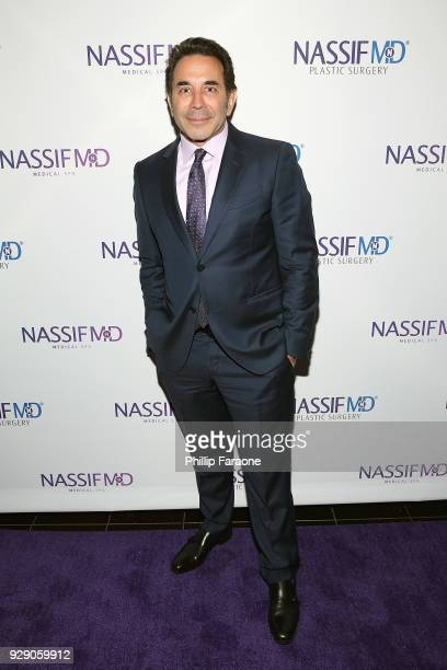 Dr Paul Nassif arrives for Dr Paul Nassif's unveiling of his new medical spa with grand opening and ribboncutting ceremony at Nassif MD Medical Spa...