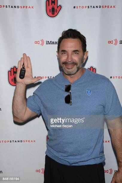 Dr Paul Nassif attends iMaxAlarm pledges to #StopStandSpeak against Street Harassment at the GBK Pilot Pen Pre Awards Celebrity Lounge 2017 Day 2 on...