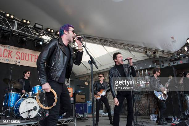 Dr. Pepper's Jaded Hearts Club Band featuring drummer Sean Payne , bassist Matt Bellamy of Muse and vocalist Miles Kane perform live on stage at...