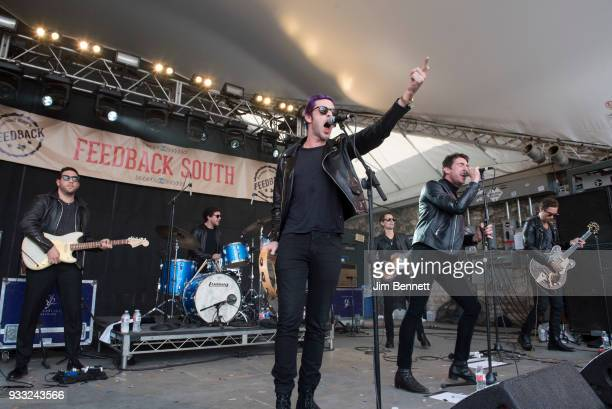 Dr Pepper's Jaded Hearts Club Band featuring drummer Sean Payne vocalist Miles Kane and bassist Matt Bellamy perform live on stage at Rachael Ray's...