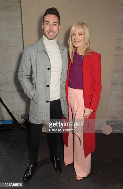 Dr Peter McQuillan and Joely Richardson attend the Roland Mouret show during London Fashion Week February 2020 at The National Theatre on February 16...
