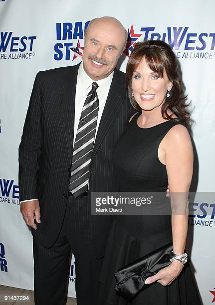 Dr Phil and wife Robin McGraw arrive at A Night of Honour Hosted By Dr Phil McGraw at the Universal Hilton Hotel on October 4 2009 in Universal City...