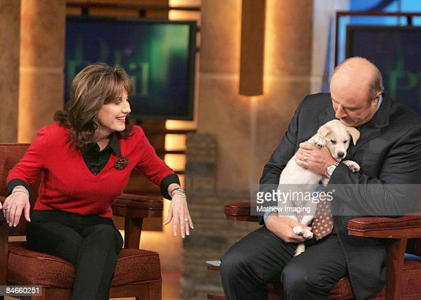 Dr Phil McGraw and his wife Robin welcome their new dog Maggie on a special DR PHIL show entitled Ask Dr Phil and Robin that airs Monday Maggie an...