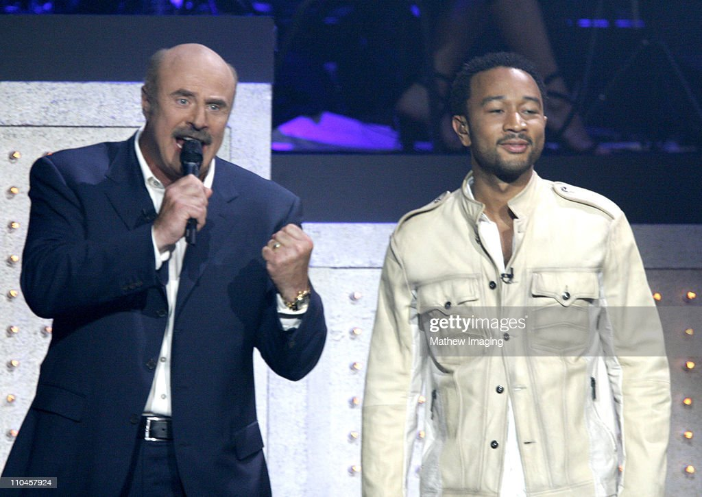 Dr  Phil McGraw and John Legend during JCPenney Jam: The