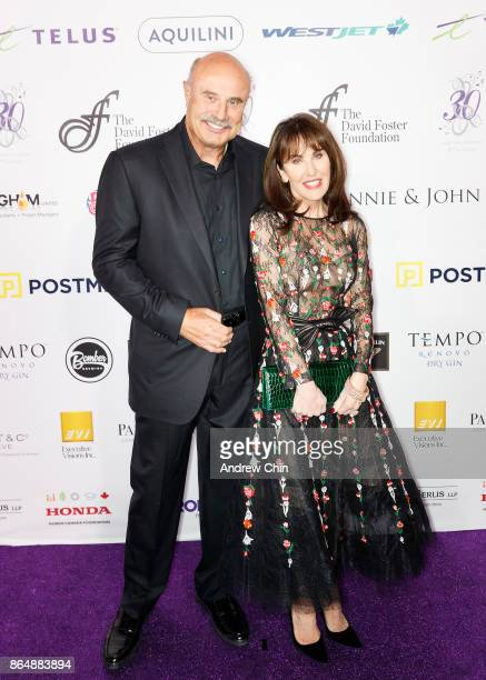 Dr Phil McGraw and Robin McGraw attend the David Foster Foundation Gala at Rogers Arena on October 21 2017 in Vancouver Canada
