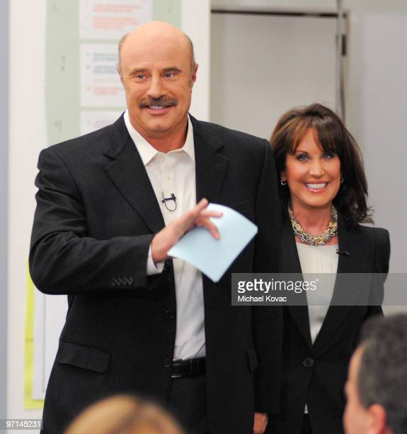 Dr Phil McGraw and Robin McGraw attend the Little Kids Rock Across America training session on February 27 2010 in Los Angeles California