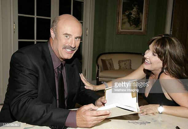 Dr Phil McGraw and Robin McGraw during Robin McGraw Signs Her Book Inside My Heart Party at Private Residence in Bel Air California United States