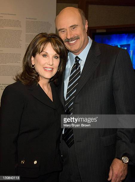 Dr Phil McGraw and Robin McGraw during The Museum of Television Radio Presents Behind the Scenes with Dr Phil at Museum of Television Radio in New...