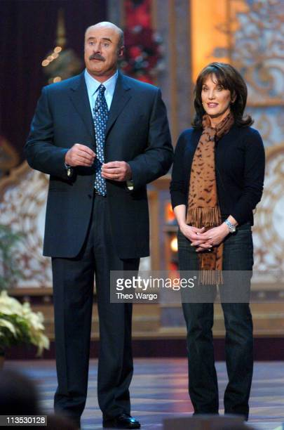 Dr Phil McGraw and Robin McGraw during TNT's Christmas in Washington 2004 Dress Rehearsals and Backstage at National Building Museum in Washington DC...