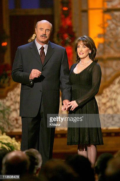 Dr Phil McGraw and Robin McGraw during TNT's Christmas in Washington 2004 Show and Audience at National Building Museum in Washington DC DC United...