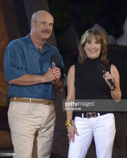 Dr Phil McGraw and Robin McGraw hosting the Boston Pops Fireworks Spectacular concert on July 4 2006 at the Hatch Shell on Boston's Charles River...