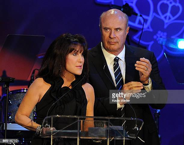 Dr Phil McGraw and Robin McGraw onstage during the 17th Annual Race to Erase MS event cochaired by Nancy Davis and Tommy Hilfiger at the Hyatt...