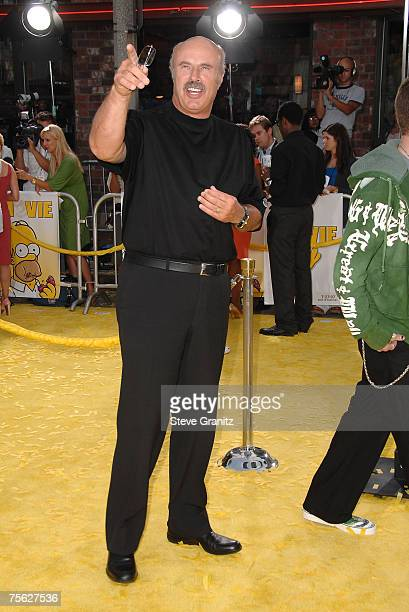 Dr Phil McGraw and son Jordan McGraw arrives at The Simpsons Movie premiere at the Mann Village Theatre on July 24 2007 in Westwood California