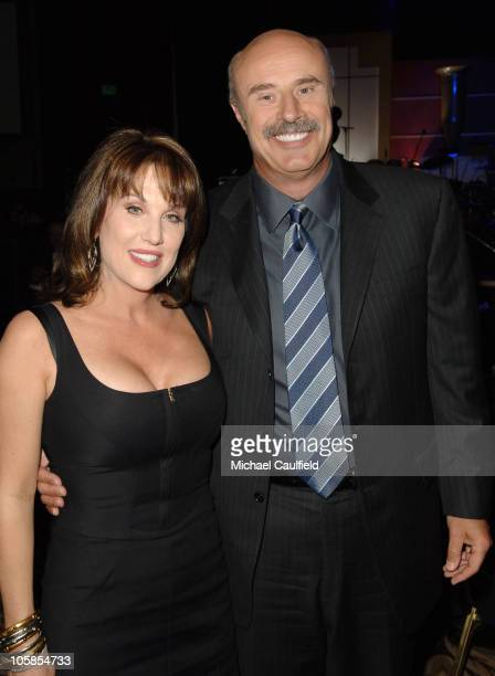 Dr Phil McGraw and wife Robin McGraw during 14th Annual Race to Erase MS Themed 'Dance to Erase MS' Cocktails at Hyatt Regency Century Plaza in...