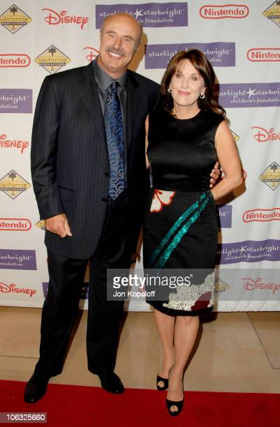 Dr Phil McGraw and wife Robin McGraw during 2007 Starlight Starbright Children's Foundation Gala Arrivals at The Beverly Hilton in Beverly Hills...