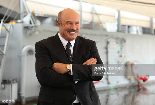 Dr Phil McGraw appears at the Battleship NJ for the Dr Phil Hits The Streets to Launch 8th Season of Dr Phil on CBS on September 11 2009 in...