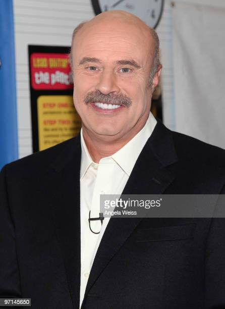 Dr. Phil McGraw attends the Dr Phil & Kris Allen 'Little Kids Rock Across America' event at the Central Los Angeles High School for Visual &...