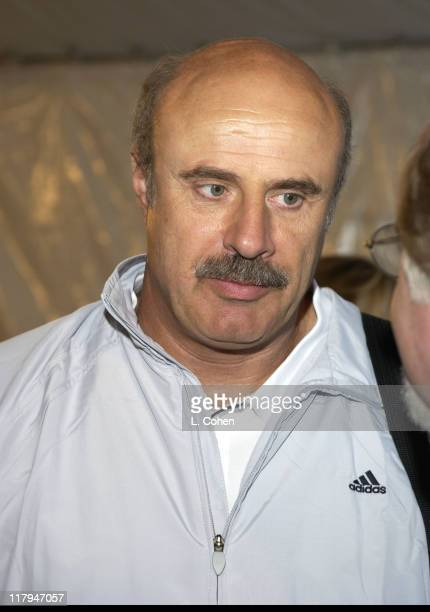 Dr Phil McGraw during 2002 MercedesBenz Cup 'A Night at the Net' Party at Los Angeles Tennis Center UCLA in Los Angeles California United States