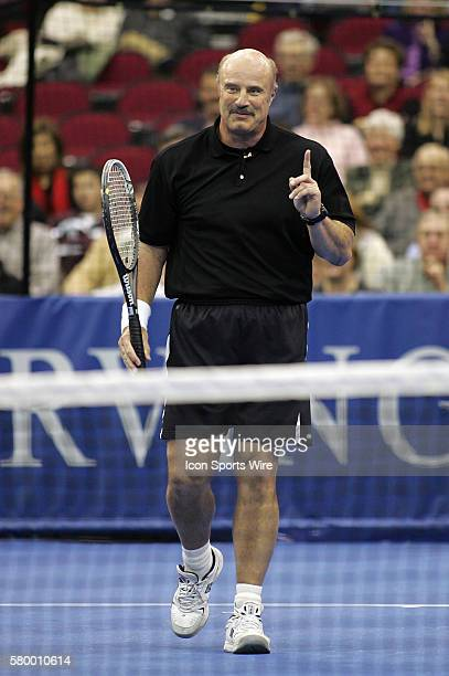 Dr Phil McGraw during the Serving for Tsunami Relief tennis match at Toyota Center in Houston Texas Tennis Champion's Jim Courier John McEnroe Chris...