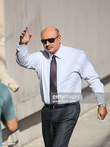 Dr Phil McGraw is seen at 'Jimmy Kimmel Live' on September 07 2016 in Los Angeles California