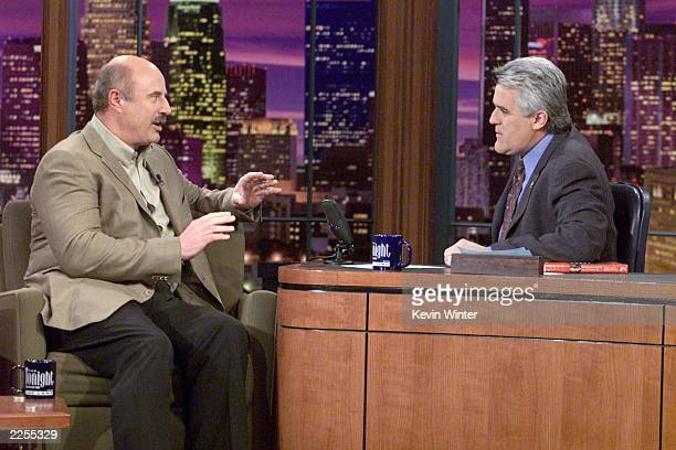Dr Phil McGraw on 'The Tonight Show with Jay Leno' at the NBC Studios in Los Angeles Ca Thursday Jan 24 2002 Photo by Kevin Winter/Getty Images