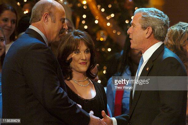 Dr Phil McGraw Robin McGraw and President George W Bush