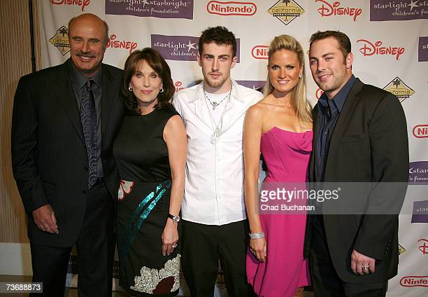 Dr Phil McGraw Robin McGraw Jordan McGraw Erica Dahm and Jay McGraw attend the Starlight Foundation's A Stellar Night Gala at the Beverly Hills Hotel...