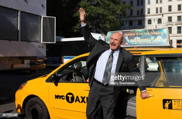 Dr Phil promotes the launch of the eighth season of his television show Dr Phil on CBS at GM Plaza on September 14 2009 in New York City