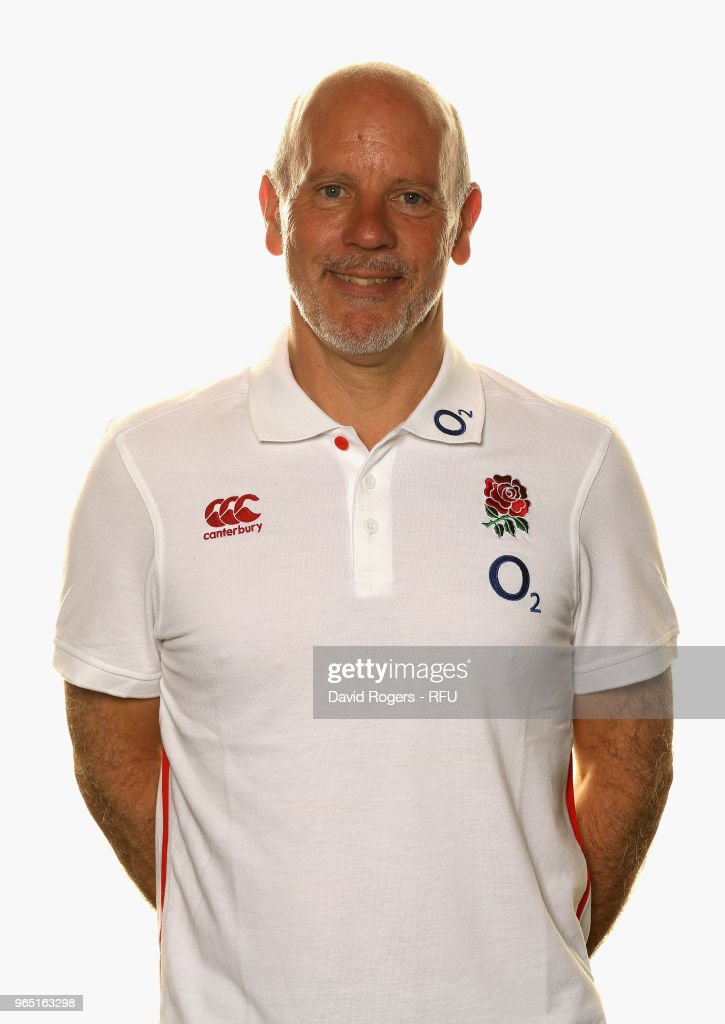 Dr Phil Riley, team doctor of England poses for a portrait during the England Elite Player Squad Photo call held at Pennyhill Park on June 1, 2018 in Bagshot, England.