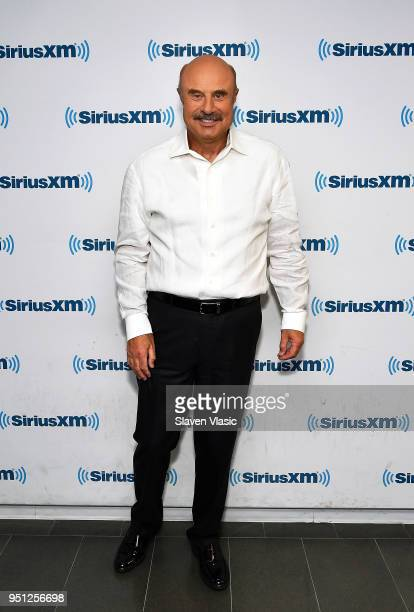 Dr Phil visits SiriusXM Studios on April 25 2018 in New York City