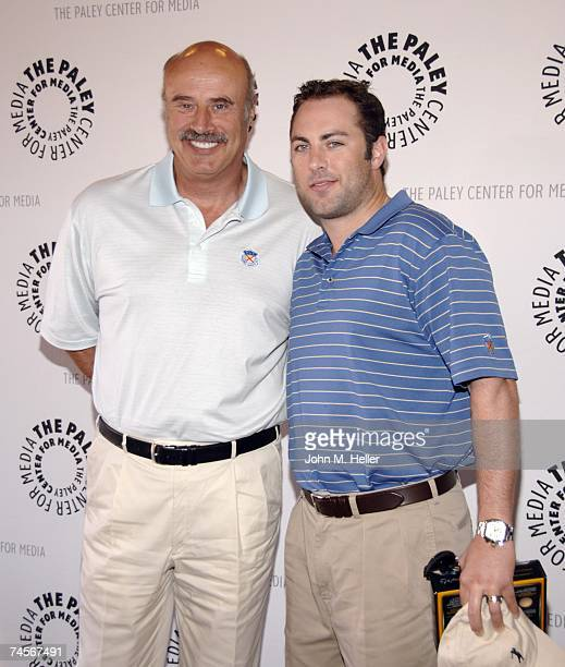 Dr Phillip C McGraw and Jay McGraw attend the Paley Center For Media's Fifth Annual Celebrity Golf Classic at Sherwood Country Club on June 11 2007...