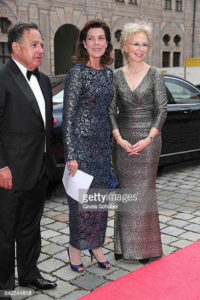 Dr Pieter Bogaardt Princess Caroline of Hannover and Angelika Diekmann during a charity dinner hosted by AMADE Deutschland and Roland Berger...