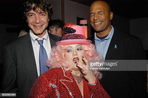 Dr Raga Fores Miss Dirty Martini and Dr Glen McWilliams attend LISA EDELSTEIN and ROSARIO DAWSON Birthday Party at The Plumm on May 18 2006 in New...