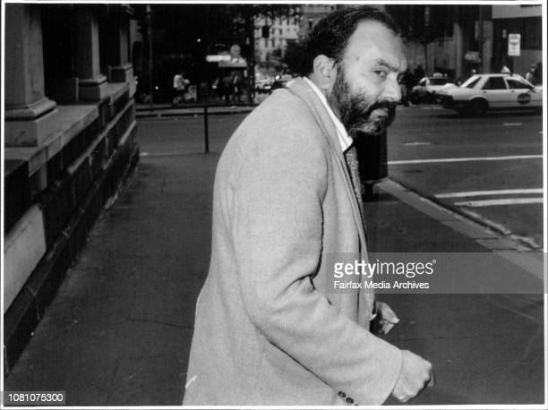 Dr Rahman Khan outside the NSW medical tribunal he is on misconduct charges May 07 1991