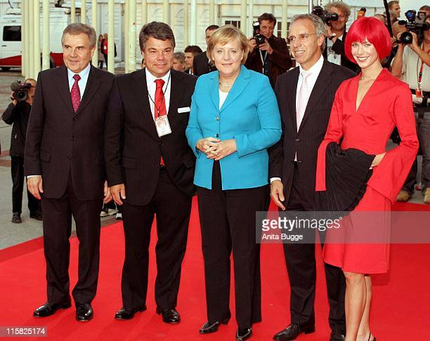 Dr Rainer Hecker Raimund Hosch Federal Chancellor Angela Merkel Hans Joachim Kamp Miss IFA from
