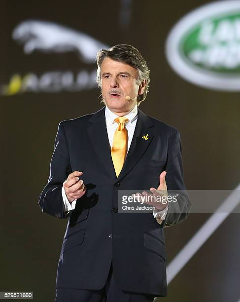 Dr Ralf Speth Chief Executive Officer, Jaguar Land Rover talks during the Opening Ceremony of the Invictus Games Orlando 2016 at ESPN Wide World of...