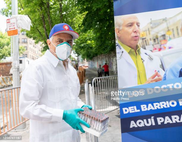 Dr Ramon Tallaj Chairman and Founder of SOMOS Community Care helps organize testing for COVID19 and antibody at Washington Heights Latino community...